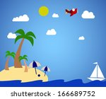 tropical island vacation | Shutterstock . vector #166689752