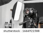 Modern Camera In Professional...