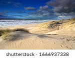 View  On Sea Beach From Dunes...