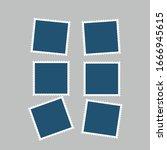 vector photo frames template... | Shutterstock .eps vector #1666945615