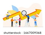 business concept. a group of... | Shutterstock .eps vector #1667009368