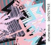 street urban abstract seamless... | Shutterstock .eps vector #1667017915