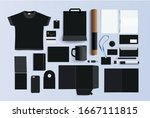 a large selection of branding... | Shutterstock .eps vector #1667111815