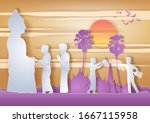 man and woman throw water each other in Song kran day famous festival of Thailand Loas Myanmar and Cambodia,new year,vector illustration