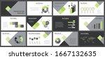business presentation templates.... | Shutterstock .eps vector #1667132635