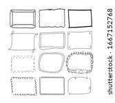 hand drawn frame vector... | Shutterstock .eps vector #1667152768