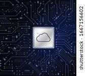 vector modern cloud technology...   Shutterstock .eps vector #1667156602