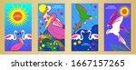 designs templates of summer...   Shutterstock .eps vector #1667157265