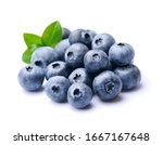 Blueberries With Leaves...