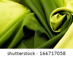 Green Satin Textile Background...