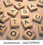 Close Up Of Random Scrabble...