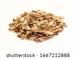 Wood Chips Isolated On A White...