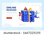 online reward   group of happy...