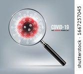 coronavirus disease covid 19... | Shutterstock .eps vector #1667257045