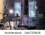 studio with studio with brick... | Shutterstock . vector #166725818