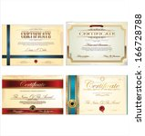 certificate template set | Shutterstock .eps vector #166728788