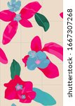 aesthetic tropical madagascar... | Shutterstock .eps vector #1667307268