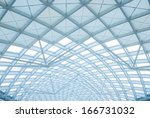 the modern station building... | Shutterstock . vector #166731032