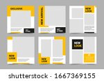set of editable minimal square... | Shutterstock .eps vector #1667369155
