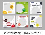 set of editable minimal square...   Shutterstock .eps vector #1667369158