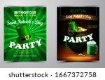 st. patrick s day poster.... | Shutterstock .eps vector #1667372758