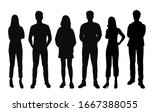 vector silhouettes of  men and... | Shutterstock .eps vector #1667388055