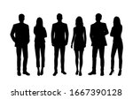 vector silhouettes of  men and... | Shutterstock .eps vector #1667390128