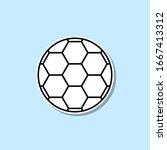 soccer ball sticker icon....