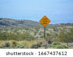 Flash Flood Area Sign In The...