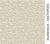 vintage beige ornament ... | Shutterstock .eps vector #1667439352