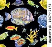 Seamless Pattern Of Sea Fish ...