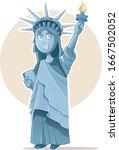 liberty statue vector...   Shutterstock .eps vector #1667502052