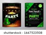 st. patrick s day poster.... | Shutterstock .eps vector #1667523508
