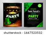 st. patrick s day poster.... | Shutterstock .eps vector #1667523532