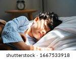 Little Boy Sleep At The Noon O...