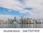 Skyline Panorama Of Toronto In...