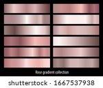 rose gold gradient backgrounds... | Shutterstock .eps vector #1667537938