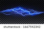 realistic lightning. thunder... | Shutterstock .eps vector #1667542342