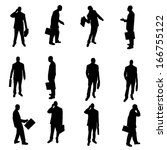 silhouettes of businesspeople | Shutterstock . vector #166755122