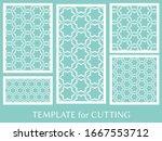 decorative panels set for laser ... | Shutterstock .eps vector #1667553712