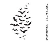 flying bats group isolated on... | Shutterstock .eps vector #1667566552