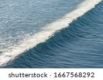 Ocean Waves With White Crests...