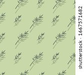 abstract green branch and... | Shutterstock .eps vector #1667571682