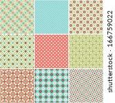 set of abstract vector seamless ... | Shutterstock .eps vector #166759022
