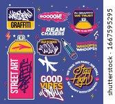 graffiti illustrations and... | Shutterstock .eps vector #1667595295