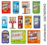 vending machine vector design... | Shutterstock .eps vector #1667605042