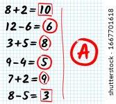 hand written mathematical... | Shutterstock .eps vector #1667701618