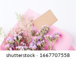 Blank Card With Flowers On A...