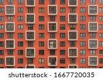 New Orange Building Facade In...