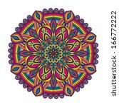 color circular pattern   vector ... | Shutterstock .eps vector #166772222